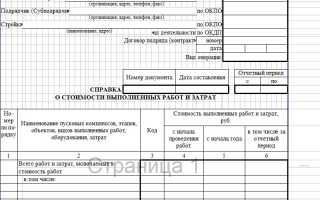 Справка о стоимости выполненных работ и затрат (форма КС-3)