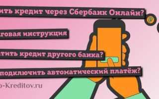 Оплата кредита через сбербанк россии